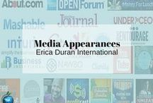 Media Appearances | Erica Duran International / Keeping track of my media links on Pinterest by corraling them here on this one board from all over the interwebs. http://ericaduran.co/erica-durans-media-contributions-and-appearances/