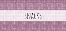 Snacks / Sweet treats and snacks to curb the afternoon hunger pains.