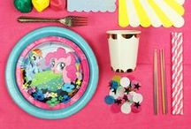 > MY LITTLE PONY PARTY < / Inspiration and boutique paper party supplies for your little girl's My Little Pony rainbow themed birthday party