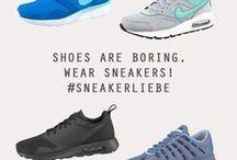 Sneakerliebe <3 / Shoes are boring, wear Sneakers! <3 Seid ihr auch so Sneaker verrückt? Egal ob zum Business Look oder in der Freizeit. Sneaker gehen immer! / by neckermann.de