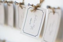 Seating / Escort cards, seating legends, table numbers & names