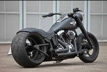 Black Motorbikes / I just love black bikes