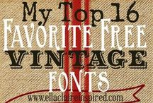 Fonts / by Tamara Pickard-Beadles