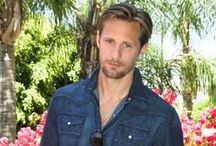 "Alexander Skarsgard / Alexander Johan Hjalmar Skarsgard (born 8/3/76 in Stockholm). His dad is an actor; mom is a doctor. When he was 19, he entered the military. He studied at the Leeds Metropolitan University then moved to New York where he enrolled at Marymount Manhattan College to study theatre. He has been voted the sexiest man of Sweden 5 times. He is 6'4"" tall. / by Anne Pidek"