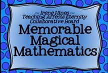 * ~ Memorable Magical Mathematics ~ * / Welcome To Memorable Magical Mathematics! We hope you enjoy our creative collection of units, projects, links & math ideas to use in primary classrooms. *** PINNING GUIDELINES*** PLEASE Pin 1 priced item (with $) at a time with 5 or more other posts or ideas that are about mathematics and NOT a product. Please just pin one priced item per day. Thank you for keeping this board balanced. ~This board is closed to new collaborators at this time. ~ / by Irene Hines ~ Teaching Affects Eternity ~