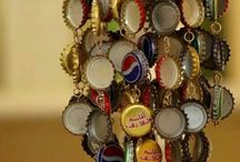 bottle caps. / So many crafts! All with just bottle caps