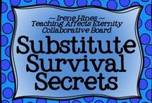 * ~ Substitute Survival Secrets ~ * / Welcome To Substitute Survival Secrets! We hope you enjoy our creative collection of units, projects, links & ideas to make life easier for planning for or being a substitute teacher. Thanks for following! *** PINNING GUIDELINES*** PLEASE Pin 1 priced item (with $) at a time with 5 or more other posts or ideas that are about books or reading and NOT a product. Please just pin one priced item per day. Thank you for keeping this board balanced.