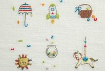 embroidery / ハンドメイド雑誌『はんど&はあと』で紹介した、手軽にできる刺しゅう作品の数々です。