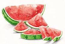 Drawing & Watercolor - Food / by Miss Mette
