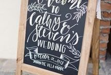 Wedding Signs / Ideas for wedding signs. Wedding sign DIY. Hand lettered wedding signs.