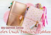 Travelers Notebook Inspiration / Midori Travelers Notebooks, Midori Setup, Fauxdori, Midori Travelers Notebook Ideas etc.