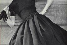 La robe noire. / Celebrating the black dress...black and the darker hues. I can't help myself...