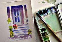 Urban Sketching Inspiration / Inspiration for Sketchbooks, keeping a Sketchbook on the Road, Urban Sketching ...