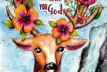 Bible Art Inspiration / Ideas and Inspirations for Bible Artjournaling, Biblejournaling, Bibleart, Faithart, Illustratedfaith, Inspiration for Bible Art