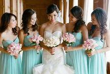 Aqua Weddings / Aqua wedding color inspiration ~ from soft aqua & seafoam through to bright aquas and sea blues.