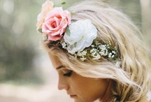 Bohemian Garden Wedding / Bohemian Garden wedding theme with an abundance of pretty spring florals, glam shabby chic details and rustic touches.