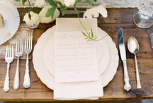 Wedding Place Settings / Our pick of stylish, creative & simply gorgeous wedding place settings for any style of soiree!