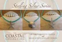 The Sterling Silver Series from The Coastal Collection / Beautiful hand-crafted, sterling silver jewelry created from genuine treasures from the deep, inspired by The Coastal Collection photography series by Susan Fairgrieve Design. ~ Proudly handmade in the USA ~