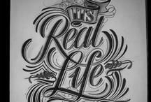 Typography   / The wonderful world of letter, fonts and hand lettering