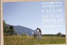 Save The Date Cards Inspiration / Using Photographs from your engagement shoot on your 'SAVE THE DATE' cards.