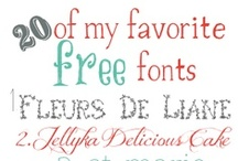Fonts, Fonts, and More Fonts / by Jane P