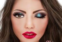Face Charts / Face Charts com makes que inspiram!