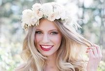 Wedding Flower Crowns / Wedding Flower Crowns. Colorful, romantic, rustic, whimsical and boho bridal look.  Endless wedding ideas on beautifulday.com.pl