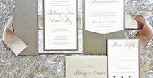 Wedding Invitations / Unique and stylish handcrafted wedding invitations suites. Fully customizable and assembled.
