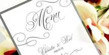 Wedding Menus / Handcrafted personalized wedding menus customized to the uniqueness of you!