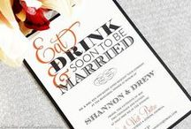 Wedding Rehearsal Dinner Invitations / Unique and stylish handcrafted rehearsal dinner invitations. Fully customizable and assemble.