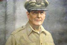 General Douglas MacArthur / Hubby was a member of Gen. Douglas MacArthur's elite honor guard in Japan, 1950-1951 / by Janet Kent