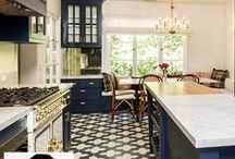 blue or gray kitchens