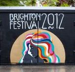 Brighton Festival 2012 branding and design / In 2012 Vanessa Redgrave was invited to guest-direct Brighton Festival. There were several themes we needed to tie into the creative, from Greek mythology and 'memory' through to theatrical heritage and Brighton itself. Inspiration came from a number of places – a photograph of Vanessa Redgrave by Victor Skrebneski, Botticelli's 'The Birth of Venus', 1960s psychedelia, vintage movie posters and the beautiful 'fin de siècle' aesthetic.