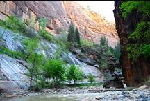 Zion National Park - Narrows Hike / May 4, 2016 Narrows Hike Closed: Water Moving 210 CFS at 8.3 feet High A transformational journey... where the 'lady of the lake' anointed my mission...