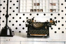 "✔Typewriter .-.-.-.-.-""*""  / The old hunt and peck days!  Click click cluck cluck! / by S♥lly✿♥‿♥✿♎★☮✌♥"