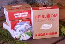 heirloom ornaments / Get local with this exclusive collection of glass ornaments intricately hand-painted featuring historic locations & attractions unique to Hampton Roads and surrounding areas.