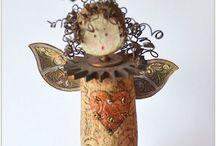 Cork Art  / Ideas for corks, wine and plain cork art!!