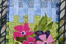 Stitching: Fabric Postcards / by Eddi Miglavs