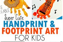 Handprint and Footprint Kids Art / Adorable Handprint and Footprint Art for Kids