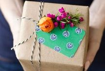 Pretty Packaging & Gift Wrap / Pretty gift wrapping ideas, a few product packaging thoughts and lots of snail mail inspiration. Wrapping paper, ribbon and tags galore!