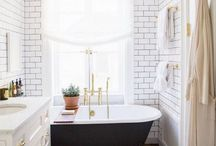 Bathroom. / It's unlikely that you'll actually have a bathroom that is big enough for what you want. So you'll have to be pretty space savvy. Here is some inspiration.