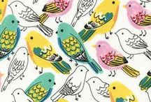 Eye-Catching Colors & Patterns / A collection of colors and patterns that that I just can't get enough of! Illustrations, paintings, fabric, and more. You'll see my slight fixation with birds and botanicals become apparent here :)