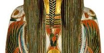 Egypt مصر Jewelry and Coffins. Ancient Egyptian Art / Jewelry and other objects found in the tombs. Found Treasures of Ancient Egypt