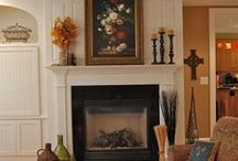 Mantel-Scapes / Inspiration for seasonal mantel decorating