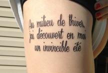 Tattoos / by Kristin Hickey