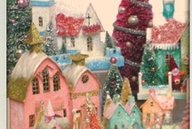 Glitzy Glitter Houses / This is my current year's holiday obsession. I just did all the tables in the house with them and I'm painting bottle brushes in pastel pink and blue. I am such a happy glitter girl! ♥ / by Beverly Wolf