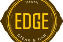EDGE, Steak & Bar / Come down to Edge Steak & Bar! A different type of steakhouse that will keep you coming back for more! Follow Edge on twitter (@EdgeMiami) and Instagram (@EdgeMiami) or check us it out on the Edge website (http://www.edgerestaurantmiami.com/)! / by Four Seasons Hotel Miami
