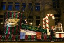 The Great Garrett Popcorn Float! #LightsFest / Our famous Garrett Popcorn float was the talk of #LightsFest! This year we went all out with complimentary Chicago Mix, popcorn shooting from our 13 foot Tin, and the smell of Caramel being made right on our float. We can't help ourselves, we love the Holidays!! BMO Harris Bank The Magnificent Mile #LightsFest / by Garrett Popcorn Shops