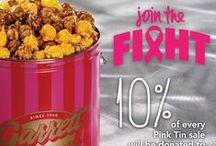 Breast Cancer Awareness Month 2014 / October is Breast Cancer Awareness Month! 10% of every Signature Pink Tin sale will be donated to A Silver Lining Foundation. / by Garrett Popcorn Shops