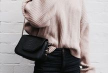 Neutral Outfits: F/W / Black, white, grey and beige outfits for fall and winter